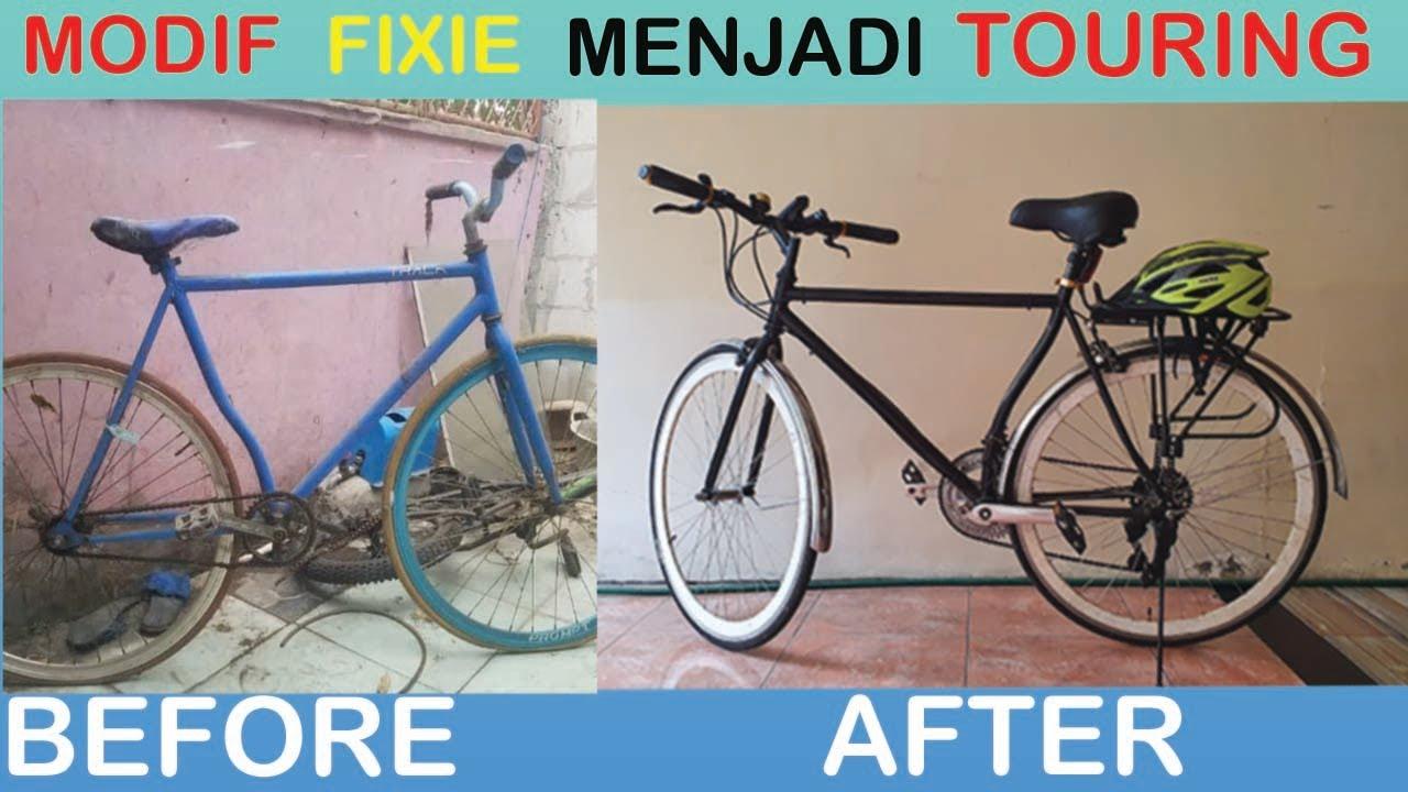 Modifikasi Sepeda Fixie Jadi Sepeda Adventure Youtube