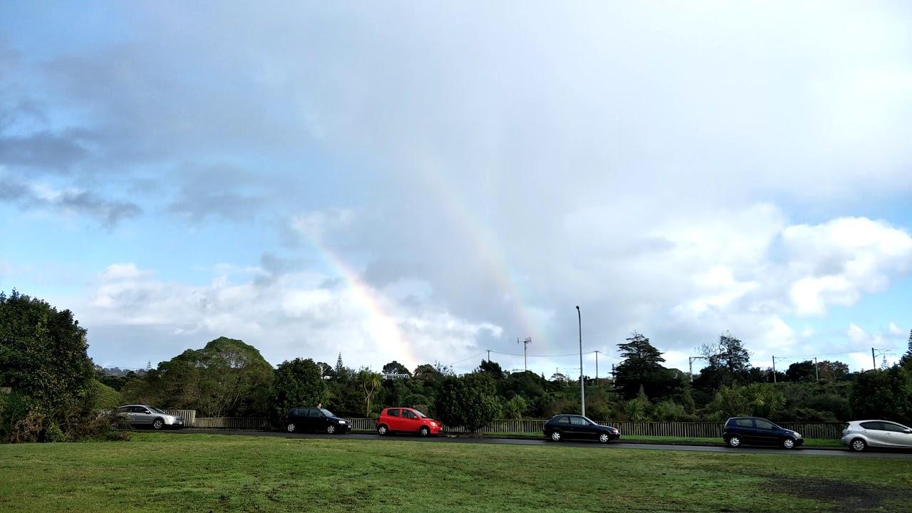 Double rainbow in Auckland