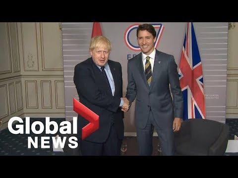 Trudeau meets with U.K. PM Boris Johnson ahead of G7 summit