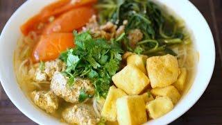 Cách làm món Bún Riêu Cua - Easy Vietnamese Crab Noodle Soup
