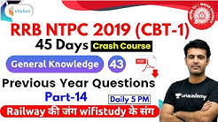 5:00 PM - RRB NTPC 2019 | GK by Amandeep Sir | Previous Year Questions for RRB NTPC 2019 | Part -14