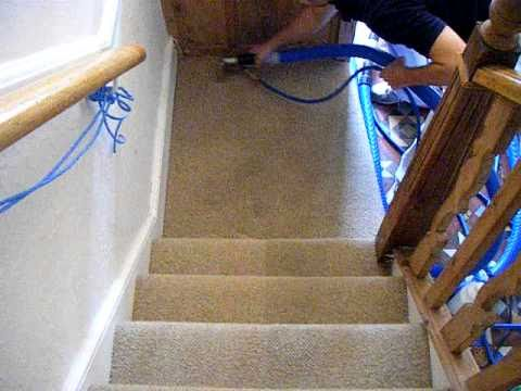 Carpet Cleaning Beige Stairs Carpet Youtube