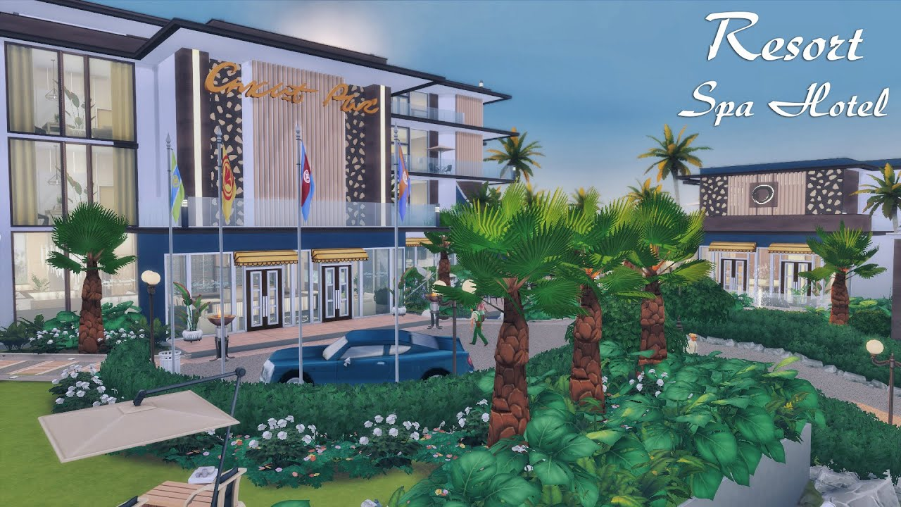 THE SIMS 4 | Resort Spa Hotel for 1m+ $ | Del Sol Valley | No CC | Speed  Build