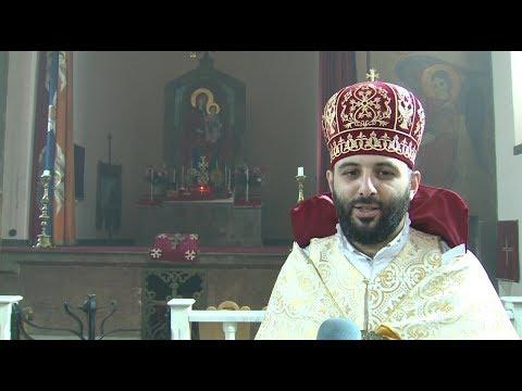 Գևորգ քահանա Աբյանի անդրանիկ պատարագը Օշականի Ս. Մեսրոպ Մաշտոց եկեղեցում