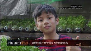 ชื่นชมเด็ก ป.4 ปลูกผักขาย หาเงินจ่ายค่าเทอม