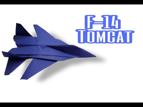 How To Make An F-14 TOMCAT Paper Airplane - Best Paper Jet Fighter