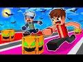 ماين كرافت سباق بلوكات حظ الرعب!😱 (مع أوتاكو و رحومي)🔥 - Lucky Block Race