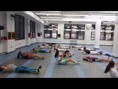 Uptown Abs workout at the Manhattan Fencing Club