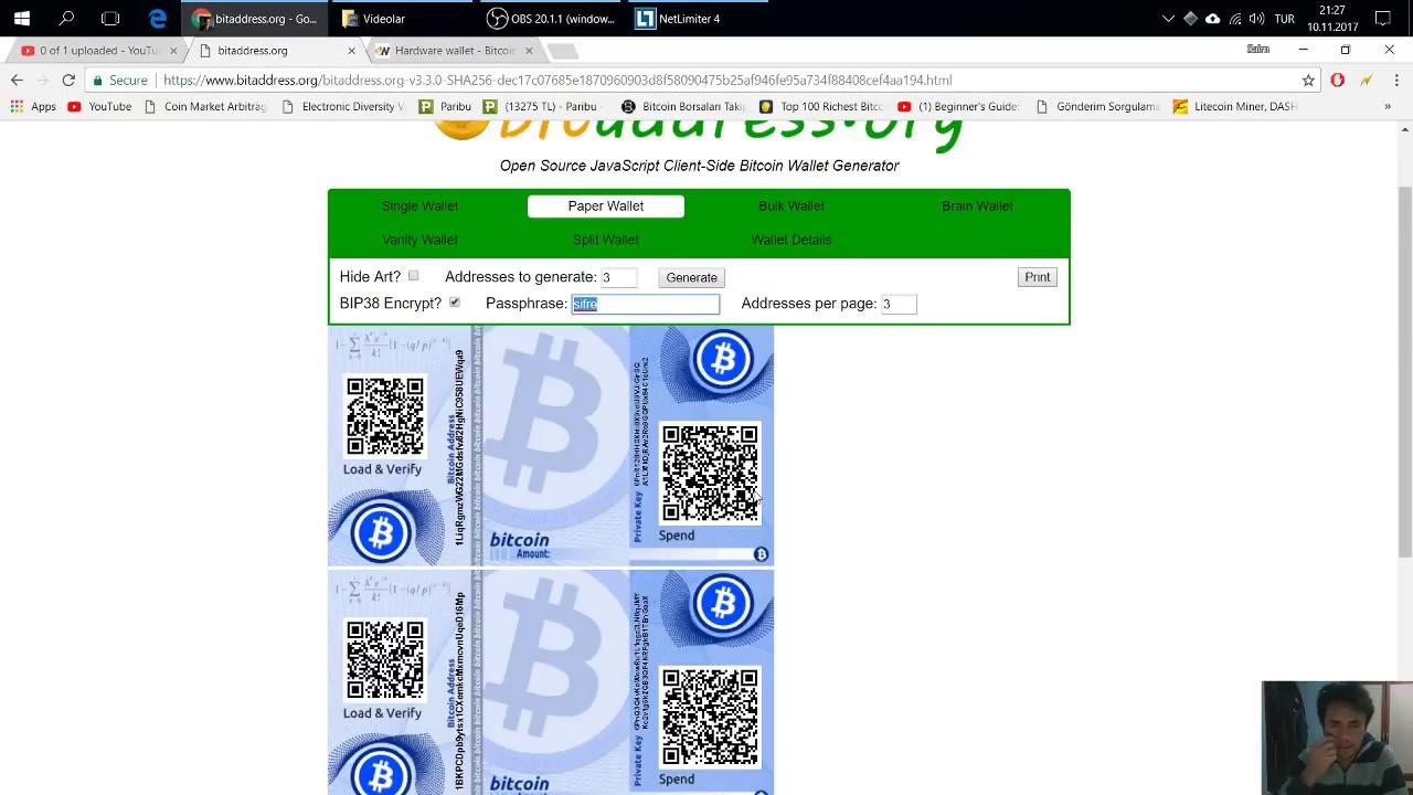 Bedava şifreli bitcoin cüzdanı, Bitcoinimi nasıl saklarım, bitcoin cüzdanı  nedir, nasıl kağıt cüzdan