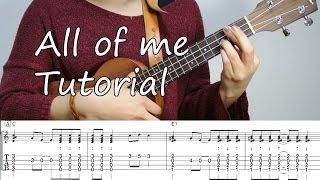 All of me - ukulele jazz tutorial