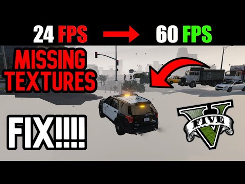 How To Fix GTA V Lag / Stuter / & Mostly **Missing Textures** Works For Any PC! +30FPS!!!