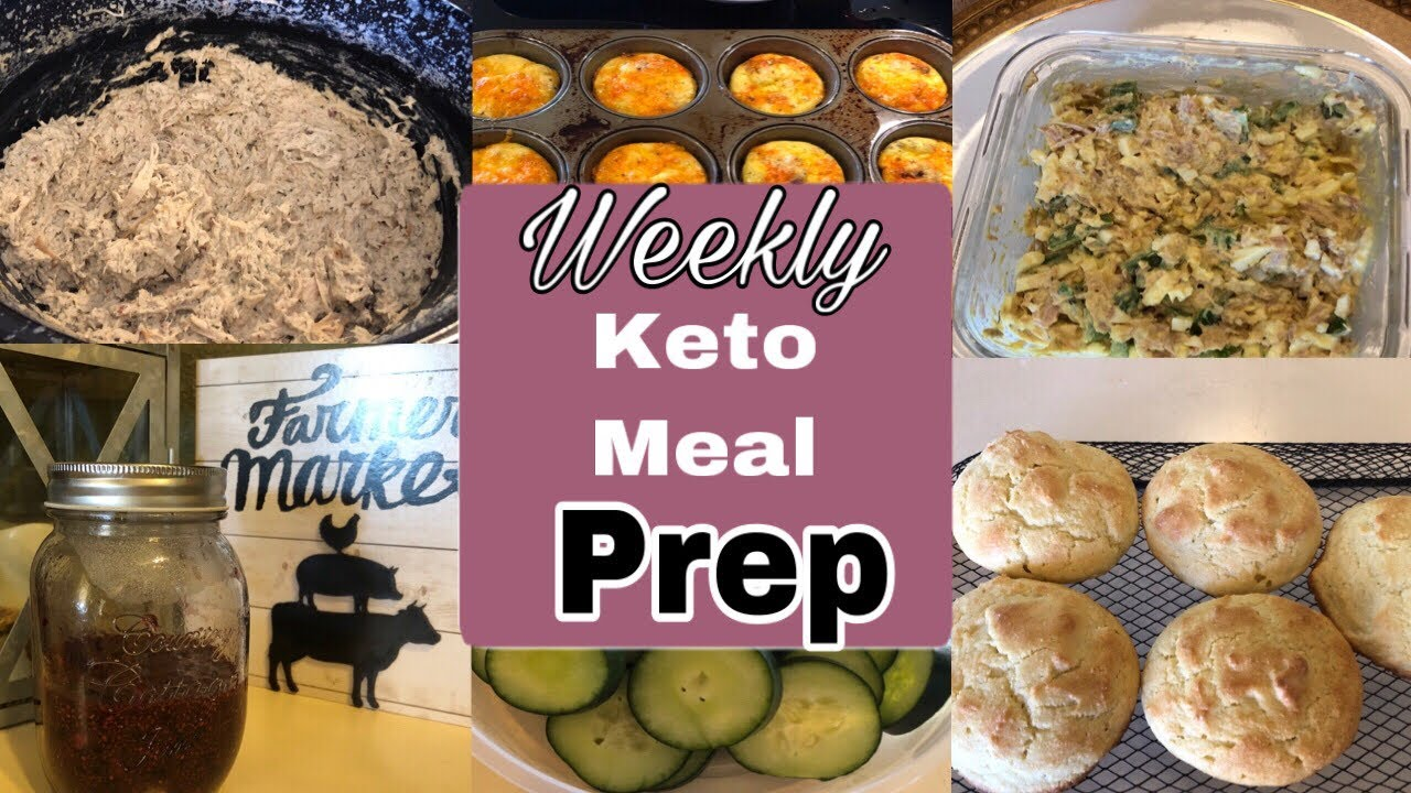 Weekly Keto Meal prep| 5/26/19| keto blackberry jam, drop biscuits,  jalapeño egg/tuna salad, & more