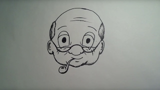 Learn to draw for beginners: Grandfather