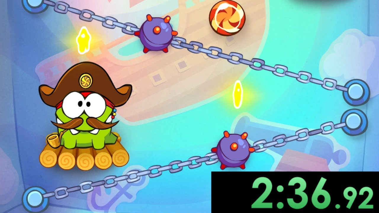 I speedrun feeding candy to a lovable monster in Cut The Rope: Time Travel