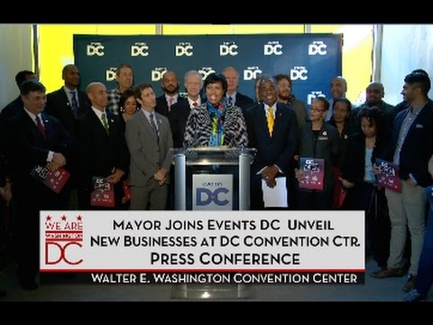 Mayor Bowser & Events DC Unveil New Businesses at DC Convention Center, 11/23/15