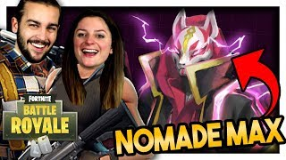 ON DÉBLOQUE LE SKIN NOMADE NIVEAU MAX ! | FORTNITE DUO FR