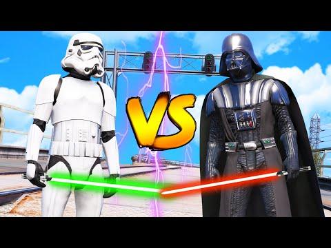 Darth Vader VS Stormtrooper - Short Epic Battle Cinematic GTA 5