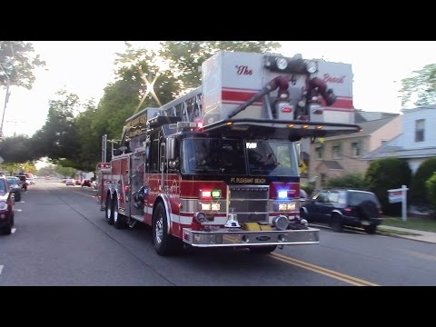 Point Pleasant Beach Fire Department Working Structure Fire Response 8-23-15