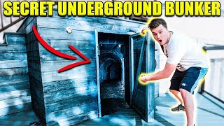 EXPLORING ABANDONED UNDERGROUND BOX FORT!! 😱📦 Abandoned Safe & More!