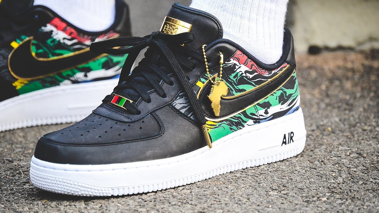 A CLOSER LOOK + ON-FEET: Exclusive Nike Air Force 1 'BHM Africa'