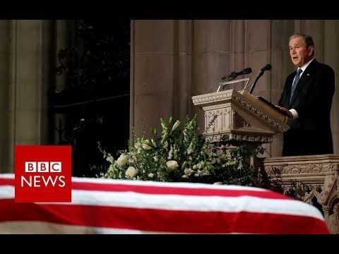 Former President George W Bush pays tribute to his father - BBC News