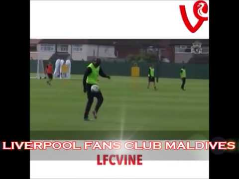 Incredible training skill from Balotelli todays training at Melwood