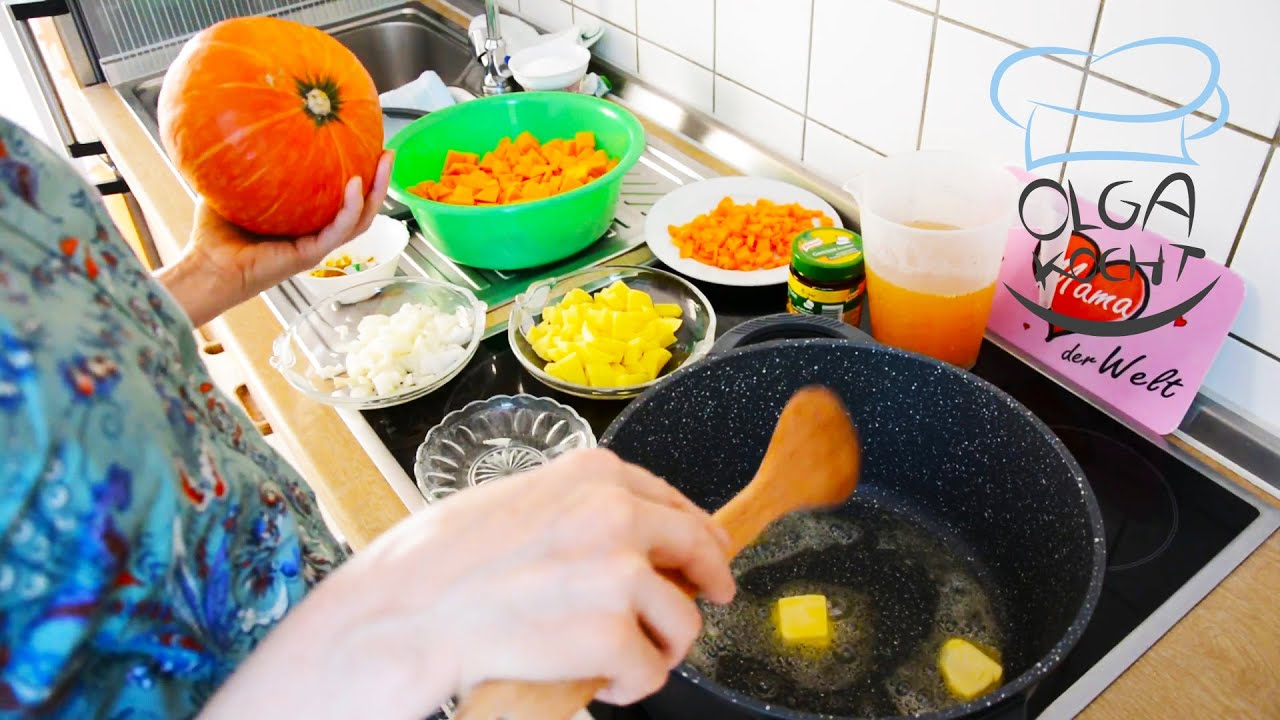 Leichte Hokkaido Kürbis Creme Suppe mit einfachen Zutaten | Vegan und Gesund