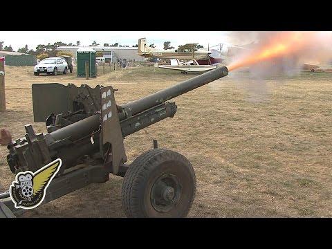 Artillery Firing:  WW2-era 6-pounder Anti-Tank