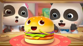 HAMBURGER in the Oven | Yummy Food Family 1 | Nursery Rhymes | Kids Songs | Baby Cartoon | BabyBus