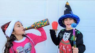 Heidi e Zidane brincam com comida mágica, histórias engraçadas para criança