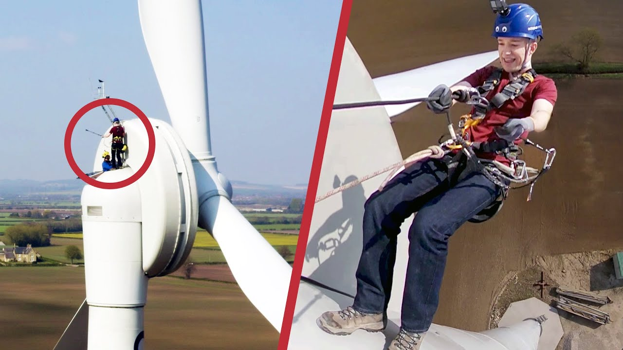 Taking The Emergency Exit From A Wind Turbine