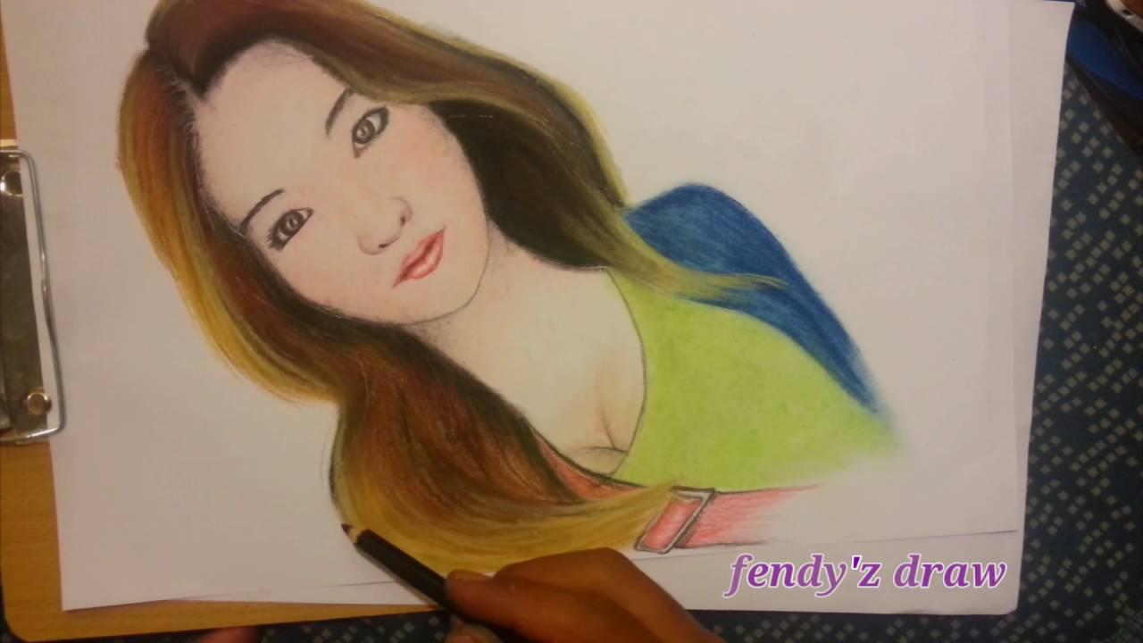 Menggambar Mewarnai Wajah Natasha Wilona Reva Full HD YouTube