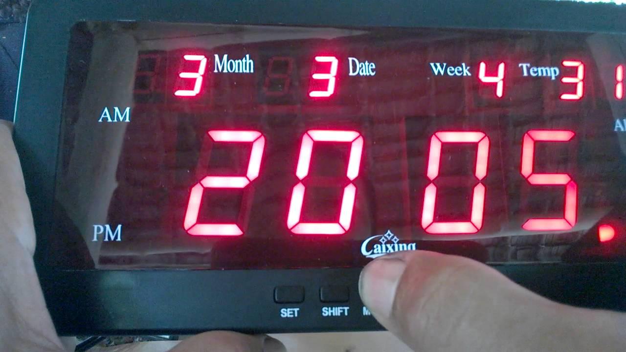 ตั้งเวลา เดือน วันที่ นาฬิกาดิจิตอล Led Digital Clock