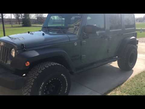 Jeep JK wrangler on 15 inch rims