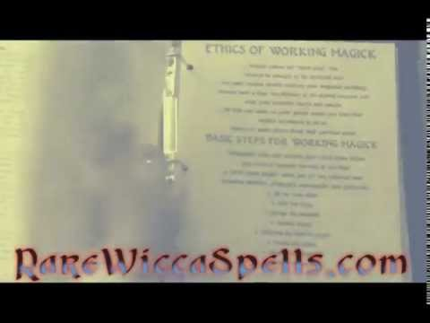 Book of Shadows Full of REAL Wicca Witchcraft Magick Spells & Rituals by Rare Wicca Spells