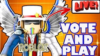 Roblox Live Stream - Voting On and Playing the BEST Games in Roblox - Labor Day Sale WINGS!