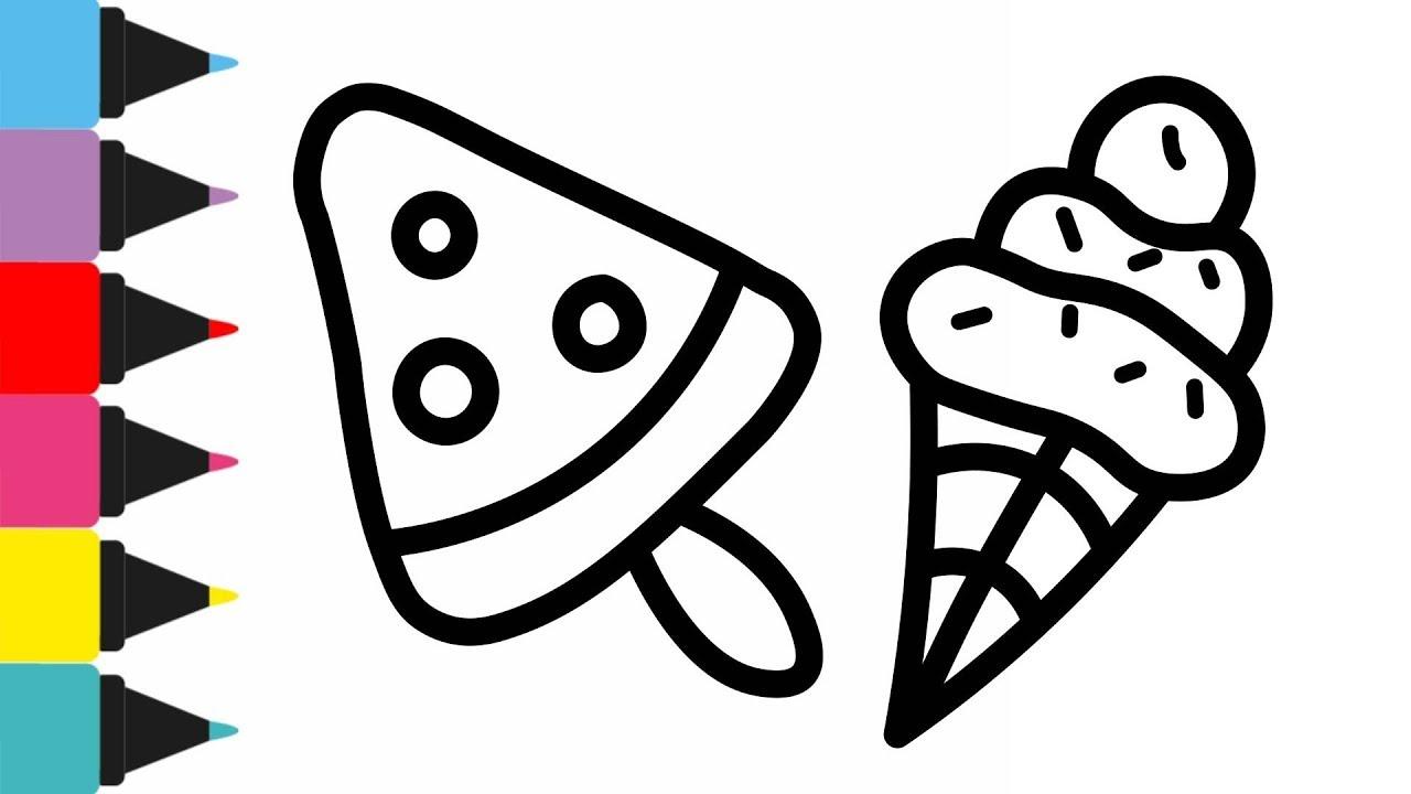 Cara Menggambar dan Mewarnai 8 es krim | Drawing and ...