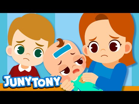 sick-song-|-baby-care-song-|-nursery-rhymes-for-toddler-|-rock-a-bye-baby-|-juny&tony-by-kizcastle