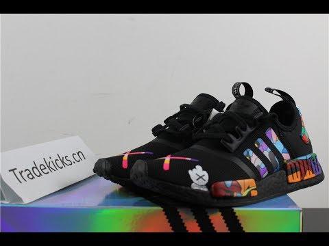 separation shoes 83947 c9f9a CUSTOM ADIDAS X NMD KAWS TRIPLE BLACK reviews by tradekicis.cn