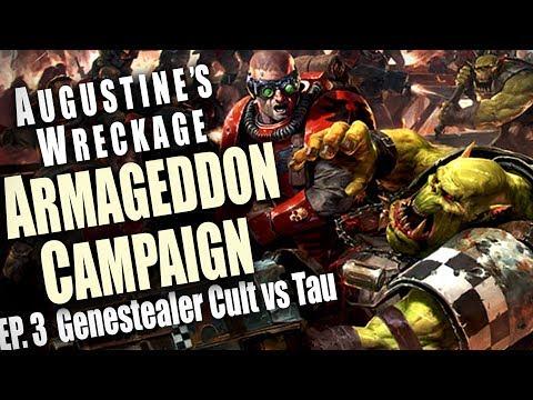 Genestealer Cult vs Tau - Augustine's Wreckage Armageddon Narrative Campaign Ep 3