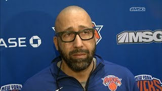 David Fizdale: A Happy Team Is A Soft Team | New York Knicks | MSG Networks