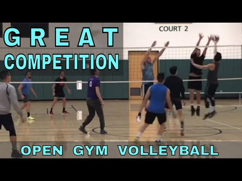 GREAT COMPETITION - Open Gym Volleyball (1/11/18) part 1