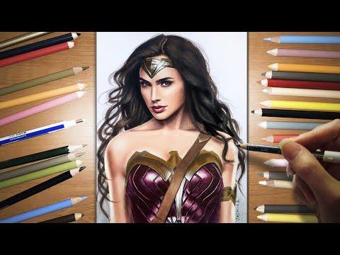 Speed Drawing: Wonder Woman - Gal Gadot | Jasmina Susak