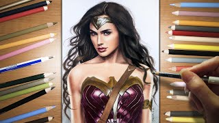 Speed Drawing: Wonder Woman - Gal Gadot | Jasmina Susak
