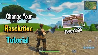How to Change Your Fortnite Resolution on PC Tutorial!