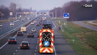A28 bij Zwolle weer schoon na urenlange schoonmaakwerkzaamheden