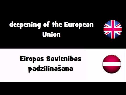 TRANSLATE IN 20 LANGUAGES = deepening of the European Union