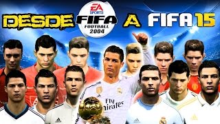 CRISTIANO RONALDO DESDE FIFA 2004 A FIFA 2015 (CARAS Y HABILIDADES) | CR7 FROM FIFA 04 TO 15 (FACES)
