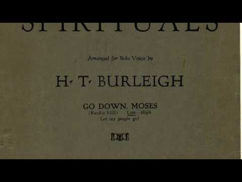 Go Down Moses (Tenor) arranged by Harry T. Burleigh