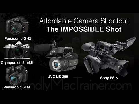 Impossible Shot Shootout/Review-- GH2, GH4, em5 mkII, JVC LS 300, Sony FS 5